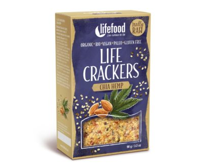 LIFECRACKERS cu chia si canepa raw eco 90g