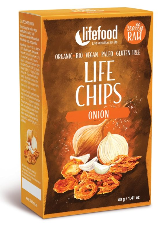 LIFE Chips din ceapa raw eco 40g