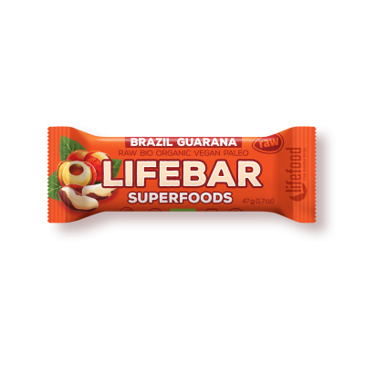 Lifebar plus baton cu guarana si nuci braziliene eco 47g