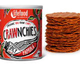 Chips Crawnchies cu boia spicy raw eco 30g