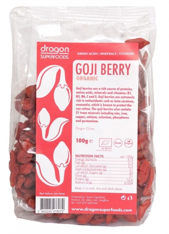 Goji berries raw eco 100g