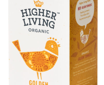 Ceai GOLDEN TURMERIC eco, 15 plicuri, Higher Living
