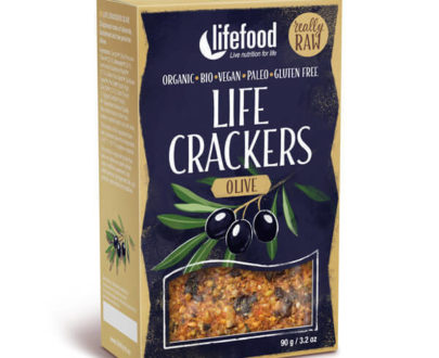 LIFECRACKERS cu masline raw eco 90g