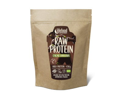 Pudra proteica Cacao Spirulina Superfood raw eco 450g
